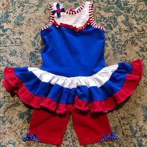 Patriotic Emily Rose 2 piece summer outfit 2T